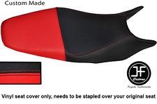 Se adapta a personalizado de vinilo negro y rojo Honda Hornet CB 600 98-01 Dual Cubierta de asiento solamente
