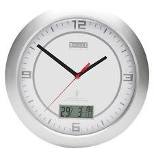 Funk Wanduhr HE-CLOCK-26 mit Tag/Datum/Temperatur Anzeige