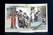Victorian Charity 1881 HYPOCRISY Saving DRUNK MEN Ignoring UNMARRIED MOTHERS