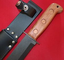SURVIAL MILITARY COMBAT KNIFE & LEATHER SCABBARD J NOWILL ENGLISH MADE