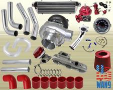 95-99 Dodge Avenger Neon 420A Turbocharger Turbo Kit Red+Manifold+Bov+Wg+Gauge