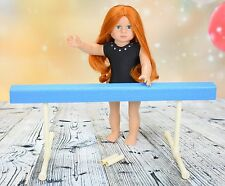 Teal Gymnastics Balance Beam for American Girl Doll or 18 inch doll