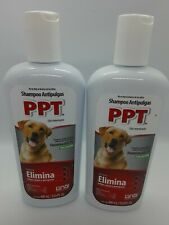 2 x Ppt Shampoo Dog Flea and ticks Treatment 400ml (Factory Sealed!)