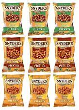 Snyders PRETZEL pezzi assortiti confezione da 9 JALAPENO + ORGANIZZAZIONE SANITARIA + Cheddar (125g ciascuno)