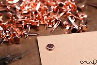 100 x Copper Paper Fasteners Rose Gold Split Pins Binding Office Craft 19mm
