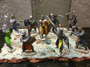 """Toy Soldiers 9 Plastic 2"""" Medieval Knights"""