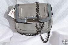 NWT Coach Gray Spectator Leather Kristin Leather Crossbody Bag Purse 46004
