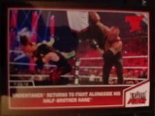 2013 Topps Best of WWE #33 Undertaker Returns to Fight with Kane RED Mint