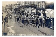 rp15515 - Dunraven Street , Tonypandy , Wales after strike riot - photo 6x4