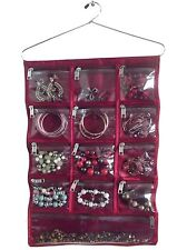 Jewellery Hanging Storage Clear Display Bag Hanger Accessory Organiser Chain