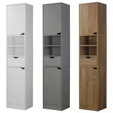 Ventura Wooden Tall 2 Door 1 Drawer Shelves Bathroom Cabinet Storage Unit Modern