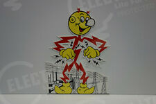 Reddy Kilowatt Power Light BOLTZ & TOWERS DIE CUT SIGN ELECTRICIAN GIFT