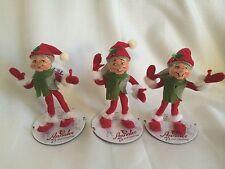 "Annalee Dolls Holiday Christmas 2013 Set of 3 5"" Alpine Elf NWT 500713"