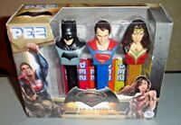 Pez Dispenser Batman vs Superman Wonder Woman Dawn of Justice 2016 Collector NIB