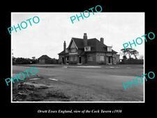 OLD LARGE HISTORIC PHOTO ORSETT ESSEX ENGLAND, THE COCK TAVERN c1930
