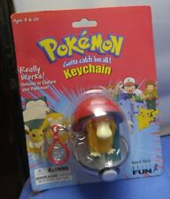 Psyduck basic fun keychain pokemon toy figure nib catch and release poke ball