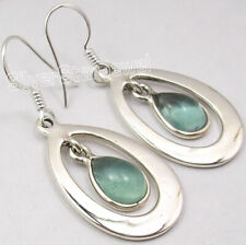 "4.2 tcw Earrings Jewelry ! 925 Solid Silver APATITE DROP Earrings 1.7"" 6.7 Grams"