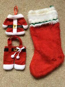 Christmas Stocking And Father Christmas Bag Set