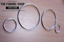 Fits Volvo S60 V70 S80 XC70 XC90 Brushed Aluminium Dial Rings Trim Surrounds x4