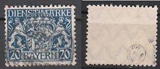 Baviera, nº d 28 W, con sello, revisan helbig bpp y Dero