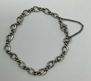 """James Avery Sterling Silver Single Curb Link Bracelet w/Safety Chain 7"""" (7.2g)"""
