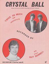 Boule de Cristal-deux fois plus-Guy Darrell - 1967-Sheet Music