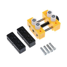 Mini Table Top Bench Vice Vise Press Clamp Rubber Suction Base Yel Kw