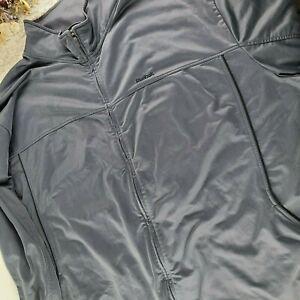 Reebok mens grey track jacket BIG SIZE 3XL medium weight classic style (I)