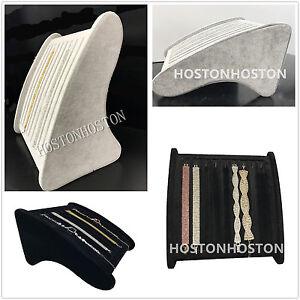 Top Quality Velvet Necklace Pendant Bracelets Display Show Stand Storage-Hooks