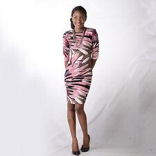 GODDESS LONDON PINK / BROWN WOMEN'S SIZE 8 DESIGNER DRESS