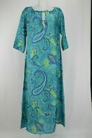Etro 100% Silk Turquoise Blue Long Kaftan Size 10 UK/ 38 EU/ 6 US