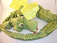 "Ikea Plush Green Minnen Drake Dragon Sea Serpent Stuffed Animal Wings 76"" Long"