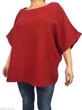 Lockre Sitzende Damenblusen,-Tops & -Shirts im Blusen-Stil mit Fledermausärmel-Ärmelart für Freizeit