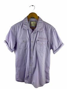 Scotch & Soda Button Up Shirt Mens Size XL Mauve Short Sleeve Pockets Stretch