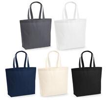 Große XL Premium Baumwoll Einkaufstasche Tragetasche Shopper Shopping Bag