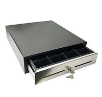 """16"""" x 14"""" POS Cash Drawer works w/ Stainless Steel Front Restaurant Draw Retail"""