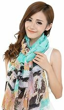 Green Arhangay Design Voile Pashmina Shawl Scarf Wrap Stole Throw Pashminas NEW