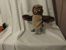 """10"""" Mignon Doux IKEA Vandring uggla hibou en peluche Marionnette à main manquante attached label"""