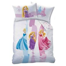 DISNEY PRINCESS RIBBONS UK SINGLE / US TWIN UNFILLED DUVET COVER & PILLOWCASE