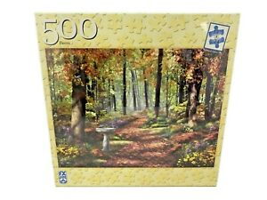 """FX Schmid Jigsaw Puzzle 500 Pieces - A Path in the Forest - 18"""" x 24"""""""