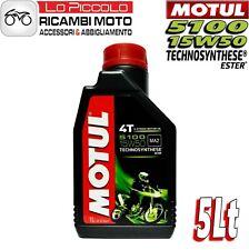 5 LITRI LT OLIO MOTO MOTORE MOTUL 5100 15W-50 15W50 TECHNOSYNTHESE ESTER 4T