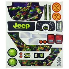 Power Wheels CHM44 Ford Ninja Turtles Jeep Decal Label Sheet Genuine