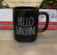 Rae Dunn By Magenta - LL HELLO SUNSHINE ☀️- BLACK Ceramic Coffee Mug