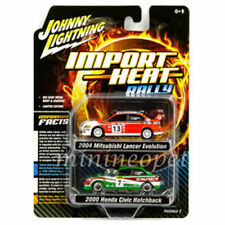 IMPORT HEAT 2004 Mitsubishi Lancer 2000 Civic JOHNNY LIGHTNING DIE-CAST 1/64