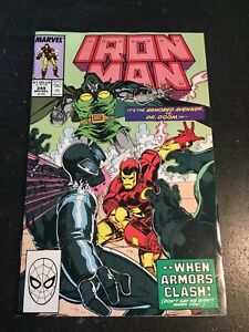 Iton Man#249 Incredible Condition 8.5(1989)Vs Dr.Doom, Bob Layton Art!