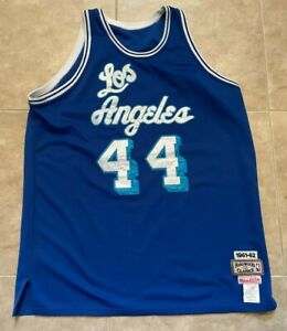 Mitchell & Ness HWC Los Angeles Lakers Jerry West Blue Men's Sewn Jersey 56 2XL