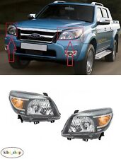 FOR FORD RANGER 2009 - 2012 FRONT MANUAL / ELECTRICAL HEADLAMPS PAIR L + R LHD