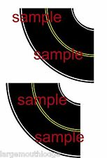 HO SCALE LAYOUT EASY PEEL & STICK ROADWAY DECALS TOUGH VINYL  2 CURVE SECTIONS