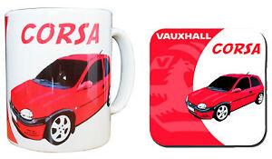Vauxhall Corsa Mug & Coaster Set