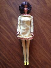 1972 Walk Lively Miss America Barbie Doll Dressed In 1969 Yellow Mellow Outfit
